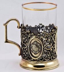 """Набор для чая """"Княжеская чета"""" в деревянном ларце"""