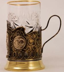"""Набор для чая """"Совет да любовь"""" с накладками художественного литья"""