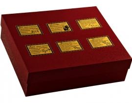 Набор из 6 стопок- перевертышей в картонном футляре