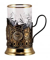 """Набор для чая """"Лучший доктор- женщина"""" с накладками художественного литья"""
