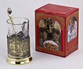 """Набор для чая """"Санкт- Петербург"""" в подарочной коробке"""