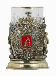 """Набор для чая """"Герб нефтяников и газовиков"""" (бронза) арт. ПДКО -330ДФ"""