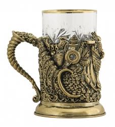 """Набор для чая """"Рог изобилия"""" (бронза) арт. ПДКО -331ДФ"""