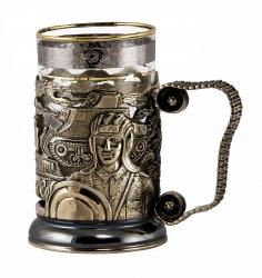 "Набор для чая ""Танки"" в деревянном футляре"