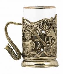 """Набор для чая """"Музыкальный"""" в деревянном футляре"""