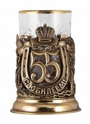 """Набор для чая """"С юбилеем! 55 лет"""" с DVD о 1966 г. (бронза)"""