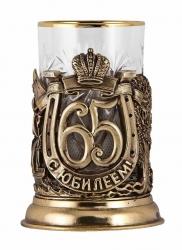 """Набор для чая """"С юбилеем! 65 лет"""" с DVD о 1955 г. (бронза)"""