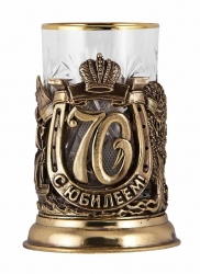 """Набор для чая """"С юбилеем! 70 лет"""" с DVD о 1950 г. (бронза)"""