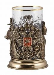 """Подстаканник """"Россия"""" (бронза) арт. ПДКО-328У"""