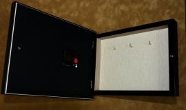 """Ключница- часы настенная на 3 ключа """"Зеркало"""""""
