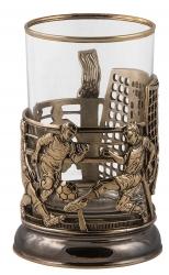 """Набор для чая """"Футбол"""" (точное литье) в деревянном футляре"""