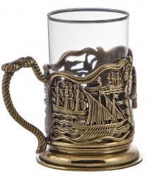 """Набор для чая """"ВМФ"""" в деревянном футляре"""