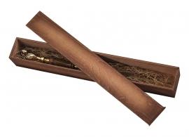 """Ложка д/обуви """"Лев"""" (бронза) с дер. ручкой 57 см в деревянном футляре"""