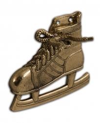 """Рожок для обуви """"Хоккеист"""" 49 см с крючком """"Конек хоккейный"""" (бронза)"""