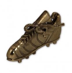 """Рожок для обуви """"Футболист"""" 49 см с крючком """"Бутса футбольная"""" (бронза)"""