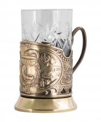 "Набор для чая ""Медики"" в деревянном футляре арт.ПД-364/1Ш-л"