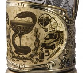 """Набор для чая """"Медики"""" в деревянном футляре арт. ПД-506/1-л"""
