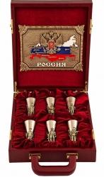 """Подарочный набор из 6-ти стопок """"Слава Русскому Оружию"""", в кейсе от 23 900 руб"""