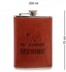 """Фляжка """"Настоящий мужик"""" 200 мл"""