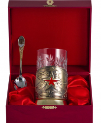 """Набор для чая """"Армия"""" в деревянном футляре арт. ПД-367/1-л"""