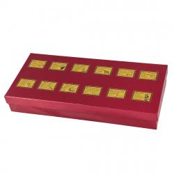 Набор из 12 стопок- перевертышей в картонном футляре арт. СП-12