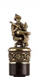 """Рожок для обуви """"Царь-батюшка"""" большой, 68 см (бронза, венге) арт. РОБ-15царь"""