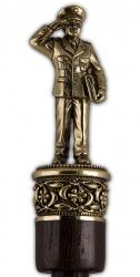 """Рожок для обуви """"Настоящий Полковник"""" большой, 68 см (бронза, венге) арт. РОБ-15полковник"""