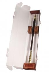 """Рожок для обуви """"Строитель"""" большой, 68 см (бронза, венге) арт. РОБ-15строитель"""