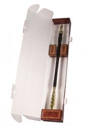 """Рожок для обуви """"МЧС"""" большой, 68 см (бронза, венге) арт. РОБ-15мчс"""