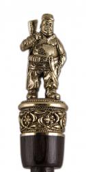 """Рожок для обуви """"Охотник"""" большой, 68 см (бронза, венге) арт. РОБ-15охотник"""