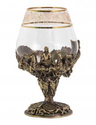 """Бокал д/бренди """"Княжеский"""" (богемское стекло, бронза) в картонном футляре, V-400 мл"""