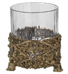 """Набор из 3-х бокалов для виски """"Дубок"""" (хрусталь, бронза) 280 мл"""