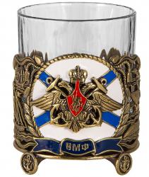 "Бокал для виски ""ВМФ"" (хрусталь, бронза) 280 мл"