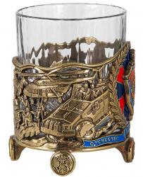 """Бокал для виски """"ФСБ"""" (хрусталь, бронза) 280 мл"""