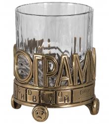 "Бокал для виски ""IN100GRAMM"" (хрусталь, бронза) 280 мл"