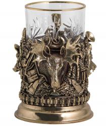 """Подстаканник """"Охота. Трофеи"""" (бронза) арт. ПДКО-337У"""