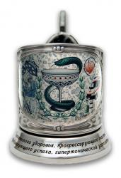 """Набор для чая """"Медики"""" в деревянном футляре арт. ПДЦ-506/1"""
