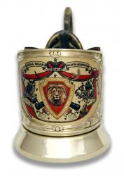 """Набор для чая руководителю """"Лев: Сила, Воля, Власть, Мудрость"""" (цветной) в деревянном футляре"""