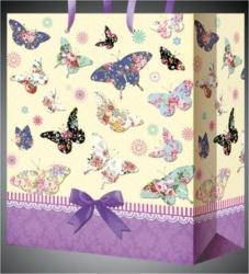"""Пакет для подарка """"Бабочки"""" 26*32 см"""