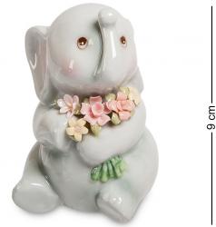 """Статуэтка """"Слонёнок с букетом"""" 9 см"""