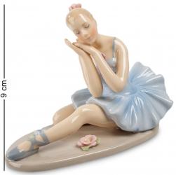 """Статуэтка """"Балерина в голубом платье"""" 9 см"""