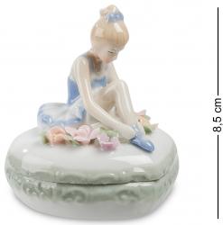 """Шкатулка """"Балерина"""" (керамика) 8,5 см"""