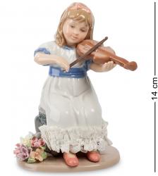 """Статуэтка фарфоровая """"Девочка со скрипкой"""" 14 см"""
