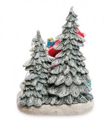 """Музыкальная новогодняя миниатюра с подсветкой """"Санта Клаус"""" 19,5 см"""