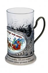 "Набор для чая ""Новогодний"" в деревянном футляре"