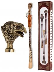 """Ложка д/обуви """"Орел"""" (бронза) с деревянной ручкой 57 см"""