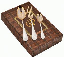 """Набор столовых предметов """"Любимая дочка"""" 3 предмета в картонной коробке"""